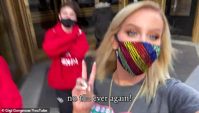 'No t*ts ever again!':The exhaustive 16-minute clip covered the pre-op day