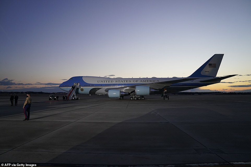 All this will be Joe's: The next time Air Force One flies it will have the new president on board. The Air Force 747 will fly back from Mar-a-Lago after Biden is sworn in and be ready for him at Joint Base Andrews