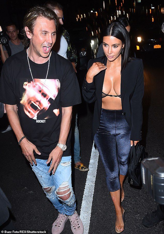 Party time in NYC! The pair heading out for a night of fun in 2017 as Kim wears a bra