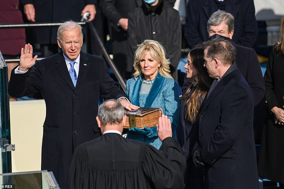 Joe Biden is sworn in as the 46th president of the United States at the US Capitol in Washington DC