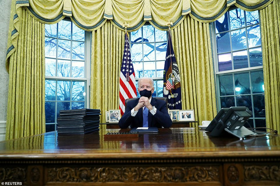 'As we indicated we will sign a number of the executive orders over the next several days to a week and I'm going to start today. The crisis of Covid-19 along with the economic crisis, and the climate crisis, the executive actions that we are signing will help change the course of the crisis,' he said