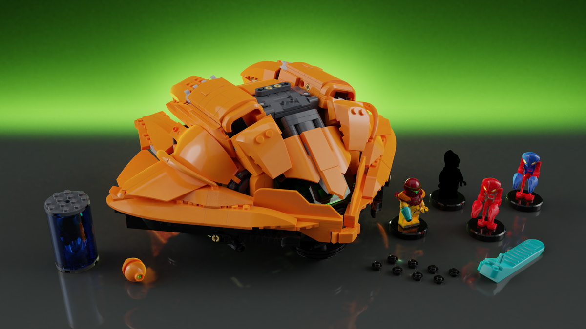 Image of a proposed Metroid Lego set
