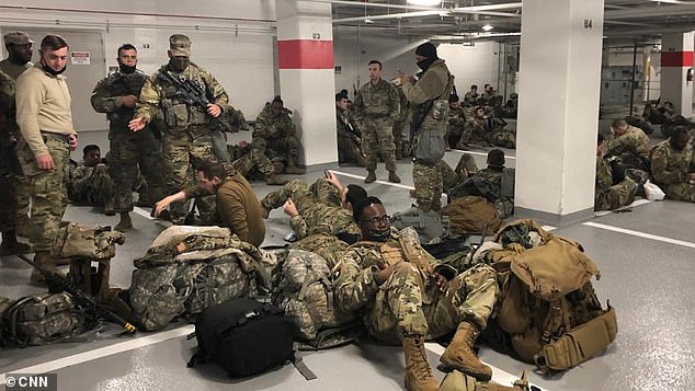 One National Guardsman had told CNN : 'After everything went seamlessly, we were deemed useless and banished to a corner of a parking garage'