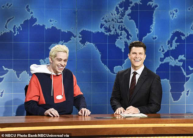 Hysterical:The series, executive produced by Lorne Michaels, is currently in its 46th season having debuted in 1975; stars Pete Davidson and Colin Jost pictured