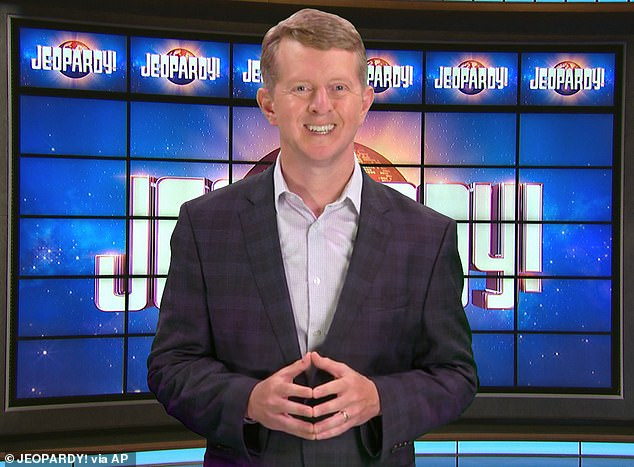 Going for gold: Ken Jennings, 46, the record-holder for the show's longest winning streak, has also been serving as a guest host on Jeopardy!, and he's the rumored frontrunner to permanently fill the position