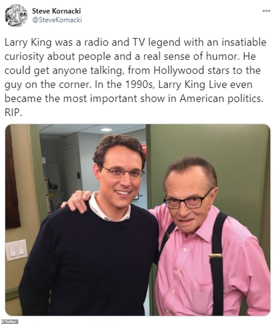 NBC News journalist Steve Kornacki paid tribute to the 'radio and TV legend with an insatiable curiosity about people and a real sense of humor'