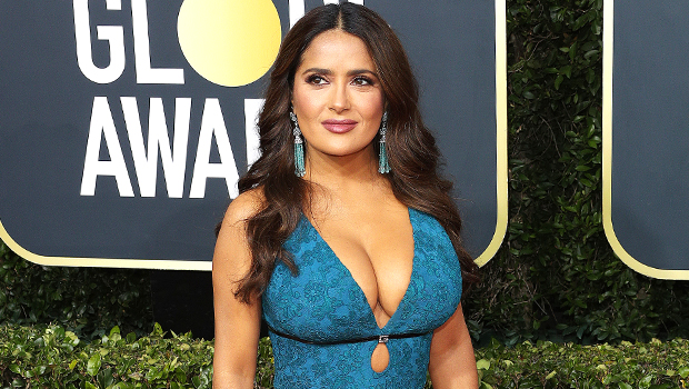 18 Stars Looking Super Sexy In Plunging Dresses: Salma Hayek, Kim Kardashian & More