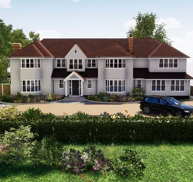 The couple's Essex home will receive both side and front extensions