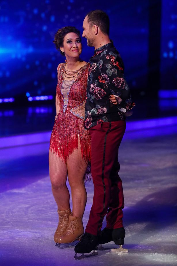 Myleene thanked her skating partner Lukasz Rozycki, in the emotional post