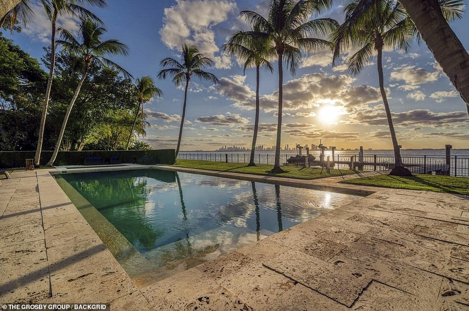 Collins, who has struggled with continued health concerns, had accused Orianne of squatting in the home and demanded the couple leave so he can sell the property. Pictured: The property has a stunning view of Miami and the sunsets