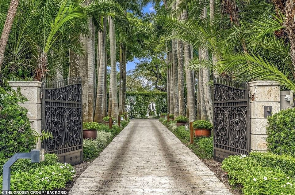 The In the Air Tonight crooner was 'usually drunk by mid-morning', her attorneys alleged, to the point that Collins would fall over and injure himself before checking into the hospital under an alias. Pictured: The drive leading up to the mansion