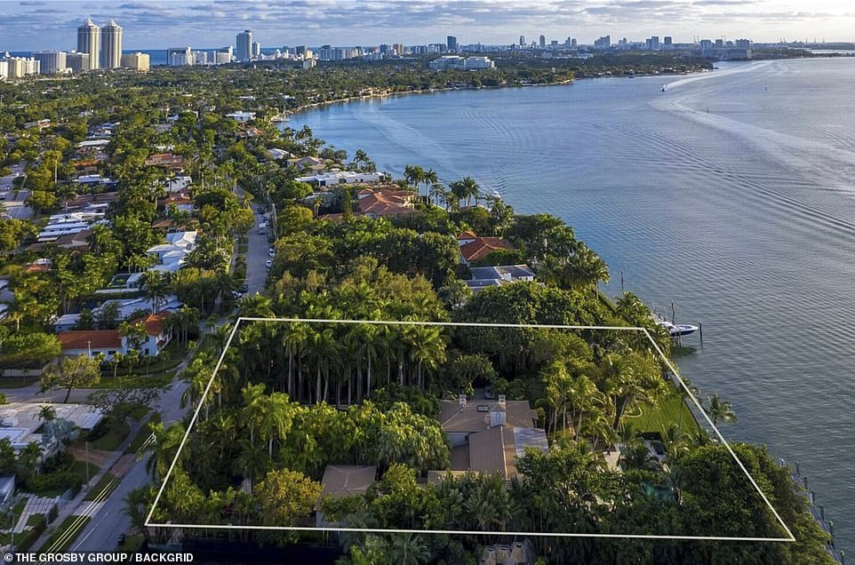 The filing provoked an immediate rebuttal from the Collins camp, who described it as 'a litany of demonstrably false, immaterial, impertinent, scandalous and scurrilous allegations which have nothing to do with the legal claims in this case'. Pictured: The large property on the Miami coast