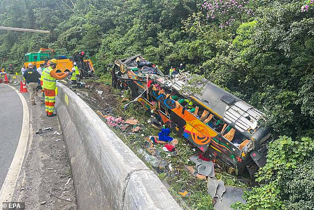 No other vehicles are thought to have been involved in the crash on Monday morning