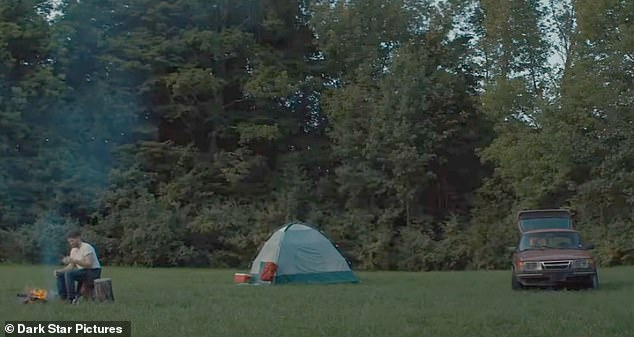 Creepy: The trailer shows the couple attempting to camp in a field before being told to leave by an ominous older figure