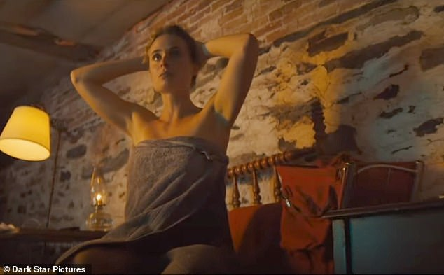 Alone? Rylie is seen calling out for Sam in one scene as she sits on a bed after showering