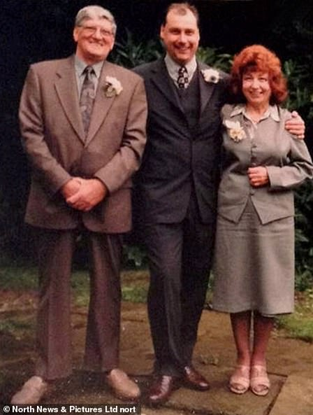 Nurse Keith Dunnington pictured with his parents Lillian and Maurice