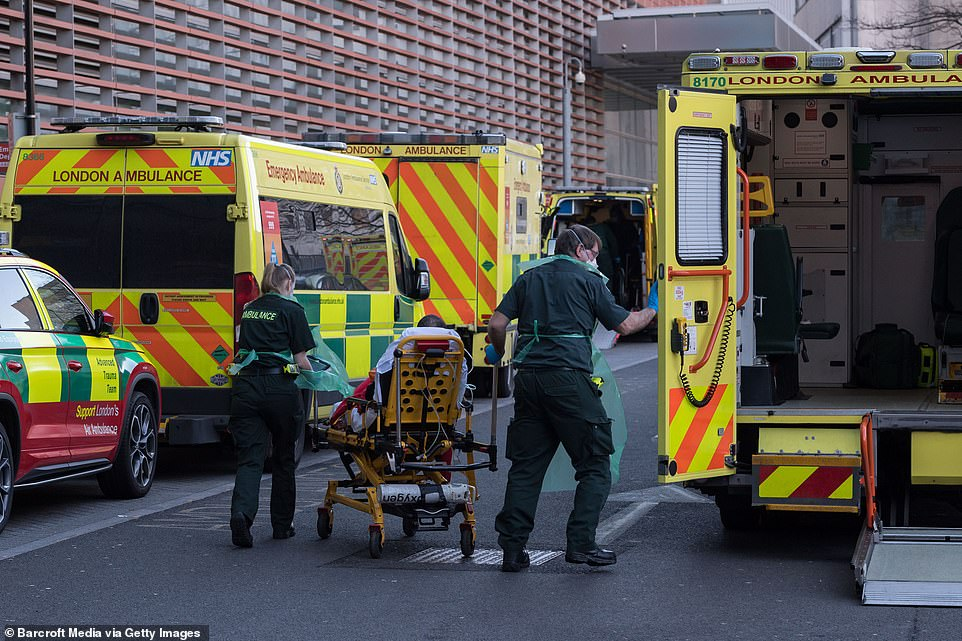 There is no doubt the Government has made many mistakes. The Prime Minister was far too slow to order lockdown last spring. Pictured, medics transport a patient from an ambulance at the Royal London Hospital on January 22