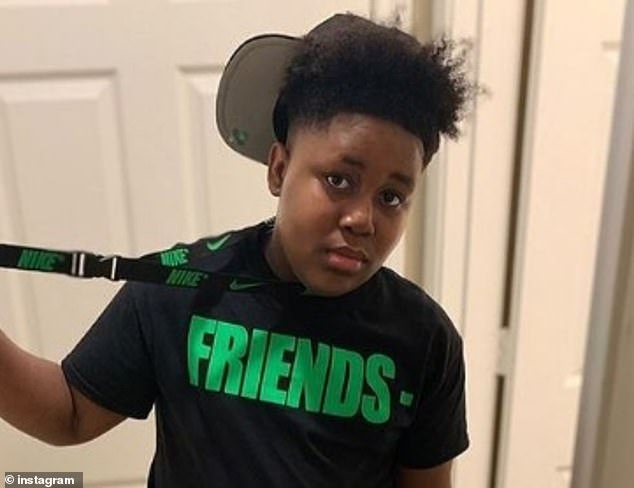 The gunman was identified by his younger brother Xavier Childs, who suffered gunshot wounds as he fled from the home, according to relatives and a police report. Xavier, 15, (pictured) remains hospitalized but is expected to recover