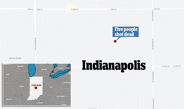The family were found shot dead in their home in the 3500 block of Adam Street, Indianapolis