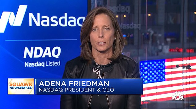 Nasdaq CEO Adena Friedman told CNBC on Wednesday morning: 'If we see a significant rise in the chatter on social media ... and we also match that up against unusual trading activity, we will potentially halt that stock to allow ourselves to investigate the situation.'