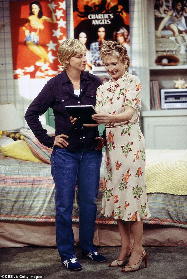 Lucky: And in wake of Cloris' passing, the 63-year-old talk show host gushed about how 'lucky' she felt to have been in the comedy icon's presence; Ellen and Cloris pictured in 2001