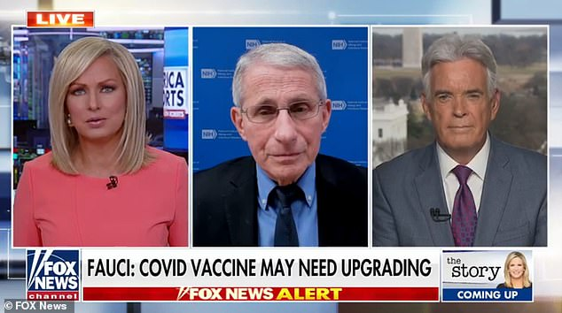 Dr Anthony Fauci, center, went of Fox News responding to the recent media attention surrounding his rocky relationship with Trump
