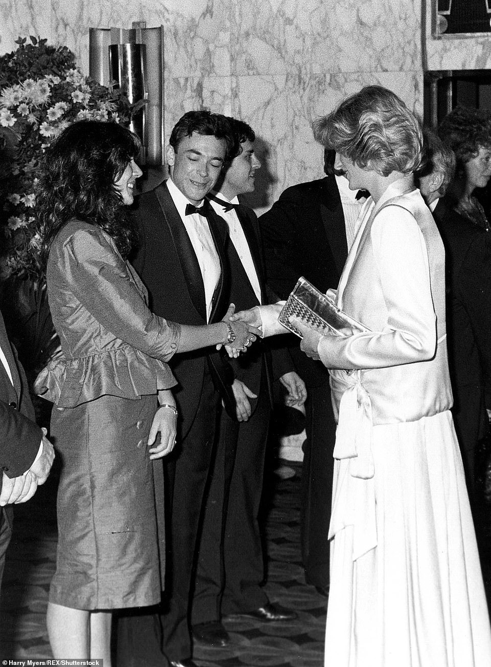 Maxwell is pictured meeting Princess Diana in 1984.Maxwell used her impeccable social contacts, like her friendship with the Prince, to introduce Epstein, a gardener's son, to society