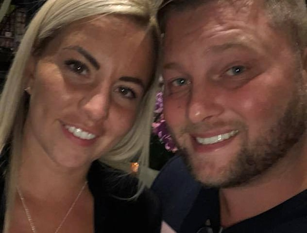 Barber and her husband Daniel in happier times before the arrest and court cases happened