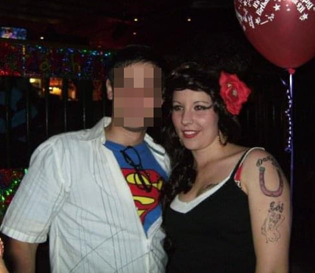 The 'frisky' supply teacher at a party where she dressed as Amy Winehouse. Her ex said their relationship was dominated by her 'huge sex drive' with her demanding it six times a day