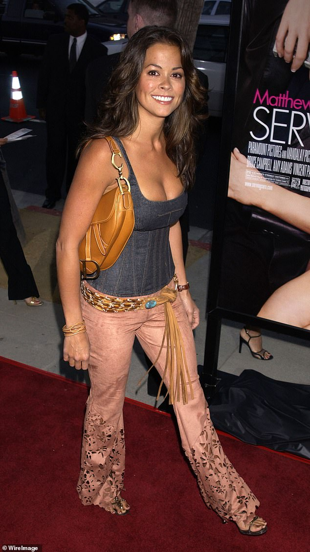 Just a young thing getting her start: The actress at the Serving Sara premiere in 2002