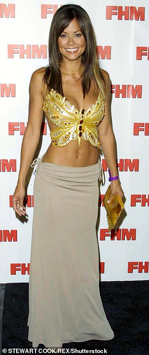 At the start of her career: And the model seen in 2001 after she joined Wild On! in 1999