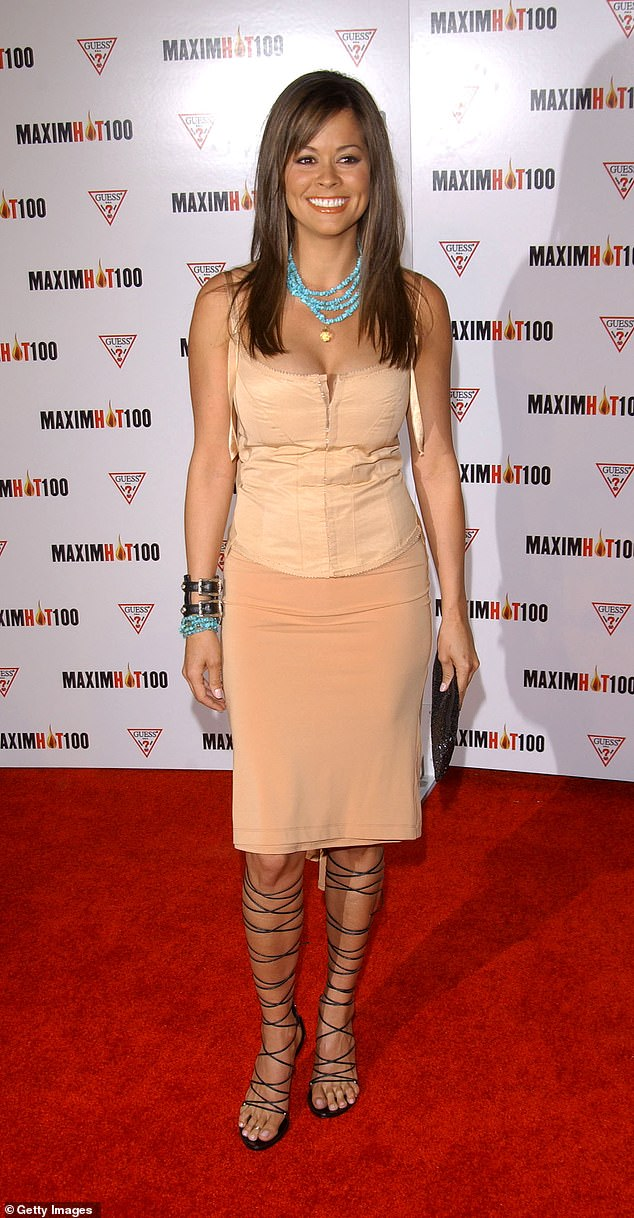 She started her career with killer curves: 404421 08: Burke arrives at Maxim's Hot100 party in 2002 in Los Angeles