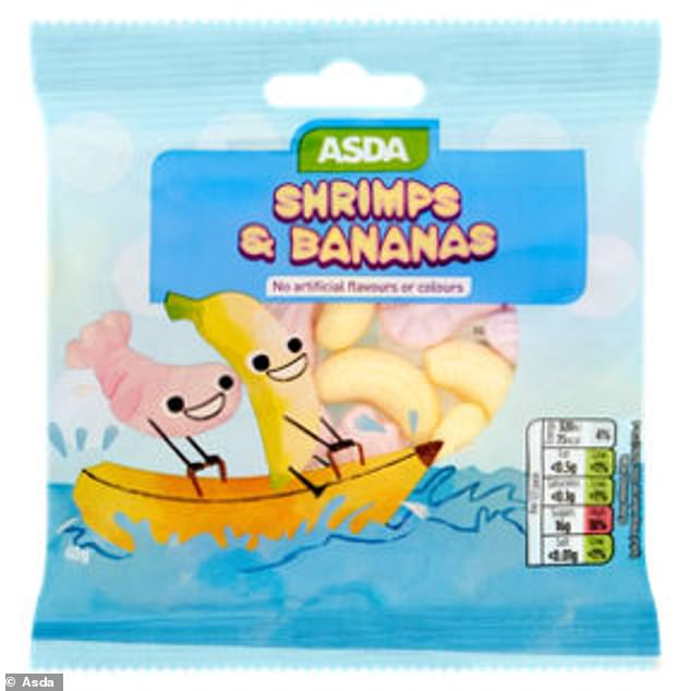 The store hopes the latest move will stop children pestering their parents to buy unhealthy products while browsing the aisles - which will in turn help tackle the UK's soaring childhood obesity rates. Pictured: Some of Asda's own-brand sweets. It is unclear which items will have new packaging