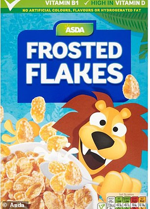 One of the Asda own-brand cereals before the packaging change
