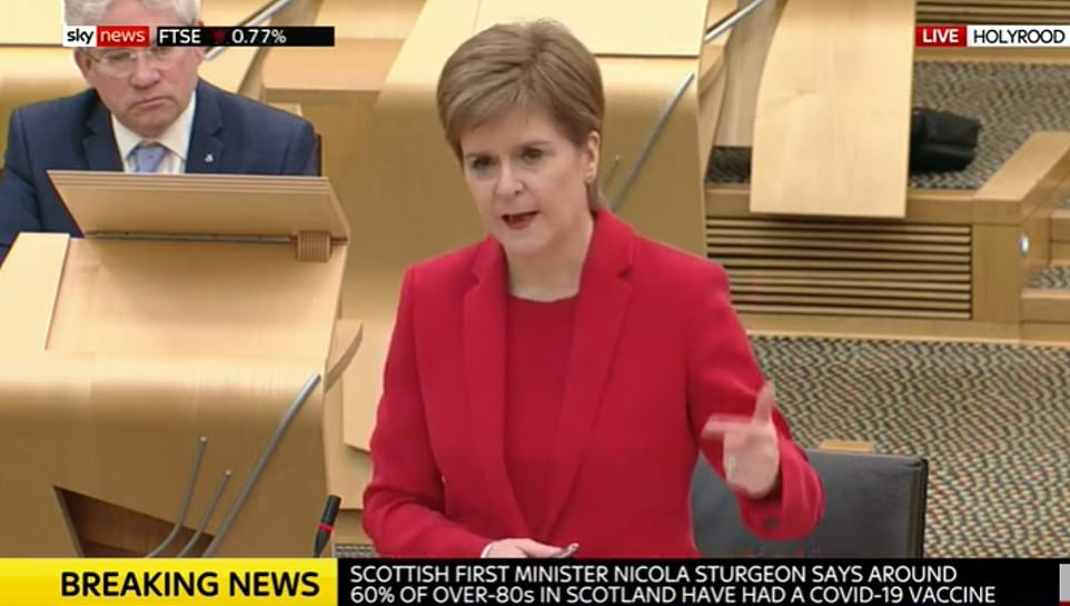 In an extraordinary move this afternoon, Nicola Sturgeon risked undermining the UK's position by announcing she will publish details of the country's vaccine supplies from next week