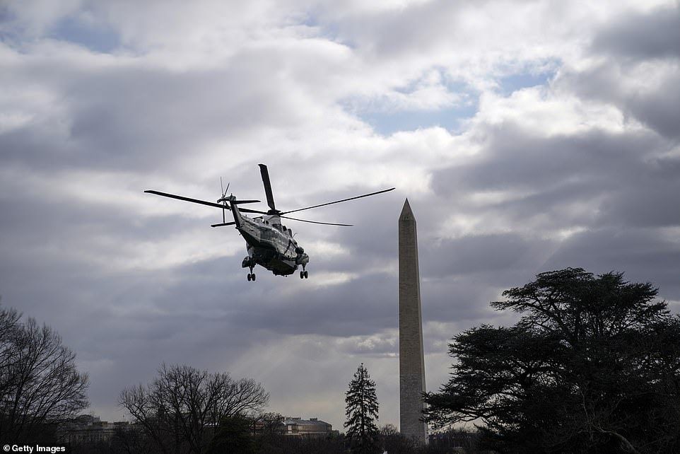 President Biden rode on Marine One for the first time as commander in chief