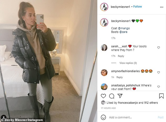 Caught out?: Less than 24 hours ago, Mario's girlfriend uploaded a photo showing her dressed in a warm coat and boots, the same day she was seen in sunglasses on the beach in Dubai