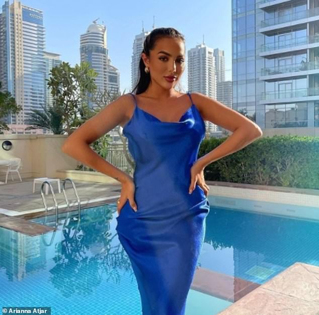 FormerCoronation Street star Arianna Atjar also posted an Instagram photo from a poolside in Dubai on Friday