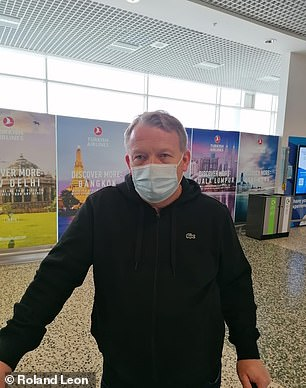 International watch businessman Tony Harris, 52, from Derby, said he had taken a calculated risk when booking his flight to Dubai last Sunday
