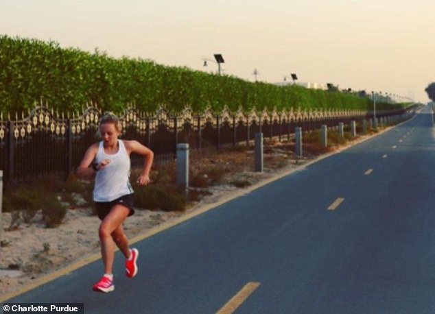 British long-distance runner Charlotte Purdue is also training in Dubai and posted this picture of her there on January 18