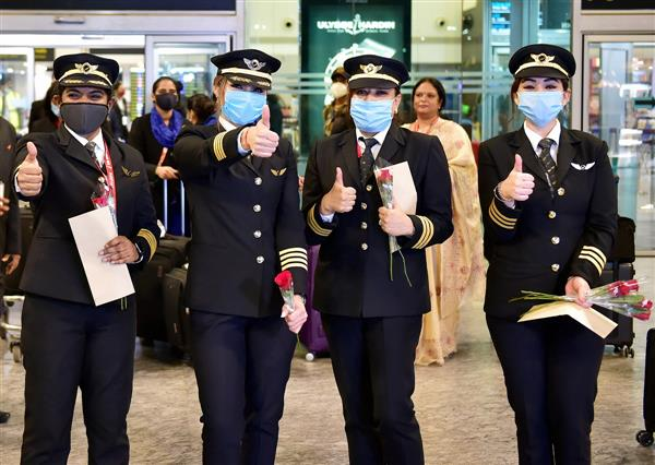 Air India flight with all-women cockpit crew successfully lands at Bengaluru airport