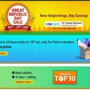 Amazon Great Republic Day Sale Kicks Off on January 20