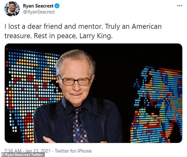 Andy Cohen and Ryan Seacrest lead stars in mourning the loss of Larry King who died at the age of 87
