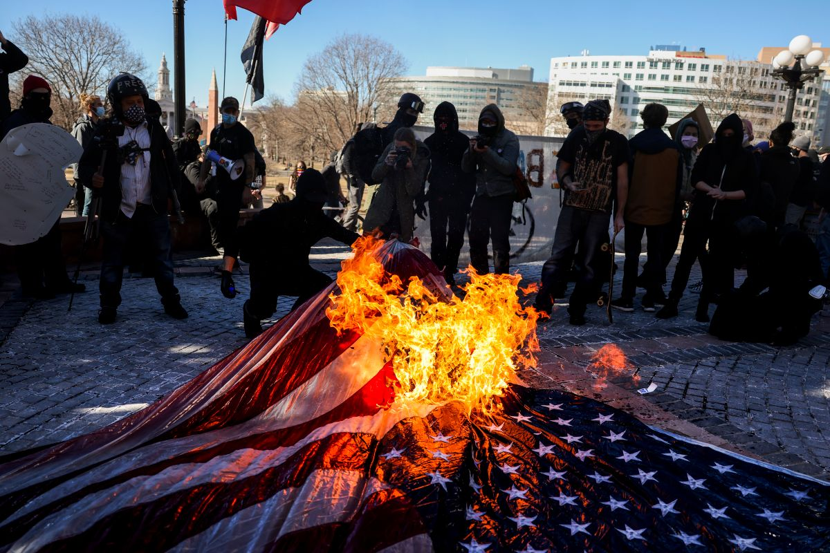 Antifa Rises Against Biden Administration: Democratic Party Headquarters Vandalized in Portland and US Flags Burned in Colorado | The State