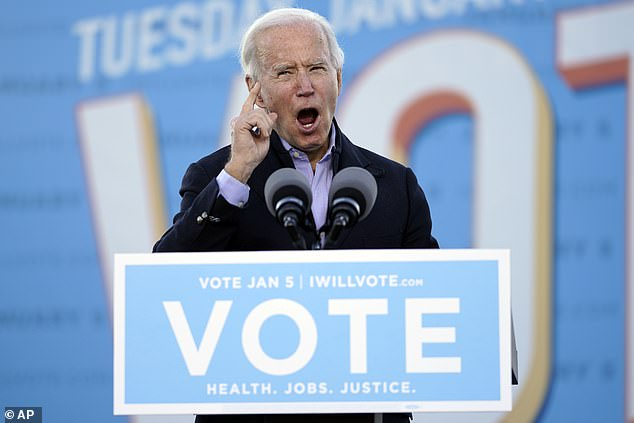 Biden accuses Trump of 'whining and complaining' as he stumps for Georgia Senate hopefuls