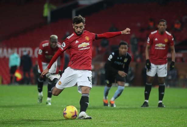 Bruno Fernandes scores United's winner from the penalty spot