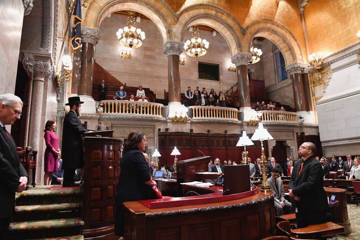 COVID-19 Pandemic Marks First Day of Sessions at the State Legislature in Albany | The State