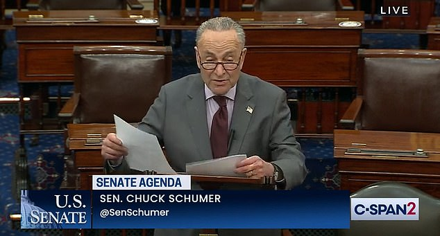 Chuck Schumer says Nancy Pelosi will send the Senate Donald Trump's impeachment article on Monday