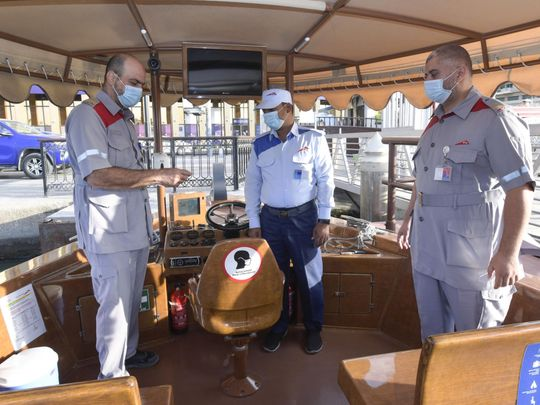 Dubai's abra drivers given training on COVID-19 precautions