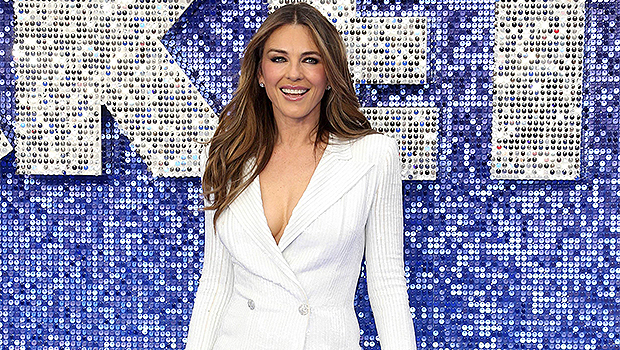 Elizabeth Hurley, 55, Sizzles In Beaded Blue Bikini After Wearing Nothing Underneath Fur Coat